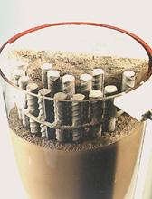 Cross-sectional view of fluid micro-concrete repair mortar